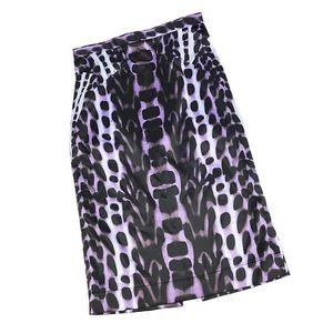 JUST CAVALLI Pencil Skirt Animal Print Sz 40 Us 4